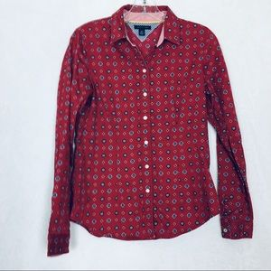 Tommy  Hilfiger Printed Button Down Shirt Size S
